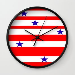 Stars n Stripes Wall Clock