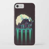 titan iPhone & iPod Cases featuring Moonlit Titan by badOdds