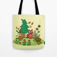 Woodland Critters Tote Bag