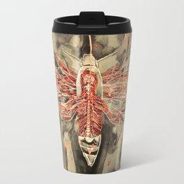 Anatomical Death's Head Hawk Moth Travel Mug