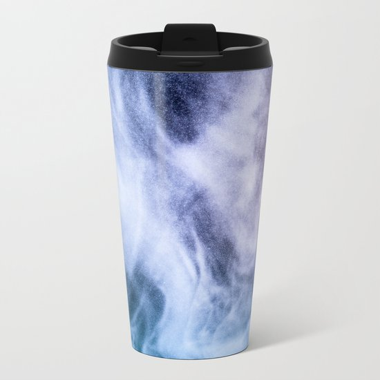 Blue and purple abstract heavenly clouds Metal Travel Mug