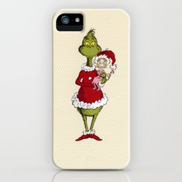 Grinch and Cindy Lou iPhone Case