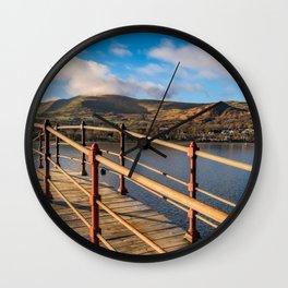 Padarn Lake Footbridge Wall Clock