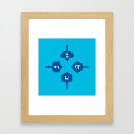 Dreidel in blue Framed Art Print