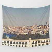 istanbul Wall Tapestries featuring Bosphorus Sea, Istanbul by ZBOY