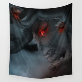 Medusa's Lament, the Eye of the Gorgon Wall Tapestry