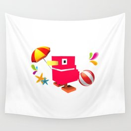 Duck Royale 3D - Game Paused Design Wall Tapestry