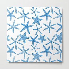 Sea stars in blue Metal Print
