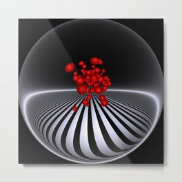 circular images on black -11- Metal Print