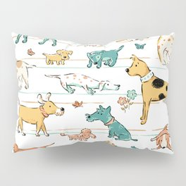 Dogs Dogs Dogs Pillow Sham