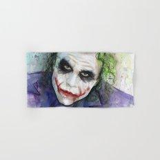 The Joker Watercolor Hand & Bath Towel