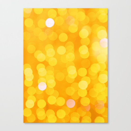 Disco Fever in Yellow Canvas Print