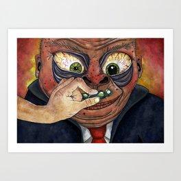 Mr. Meatface Art Print