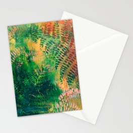 Ferns in color Stationery Cards
