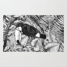 Toucan tropical garden Rug