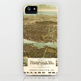 Panorama of Norfolk, Virginia and Surroundings (1892) iPhone Case