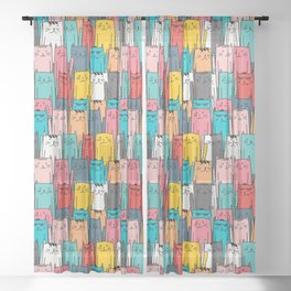 Cool Cats Sheer Curtain