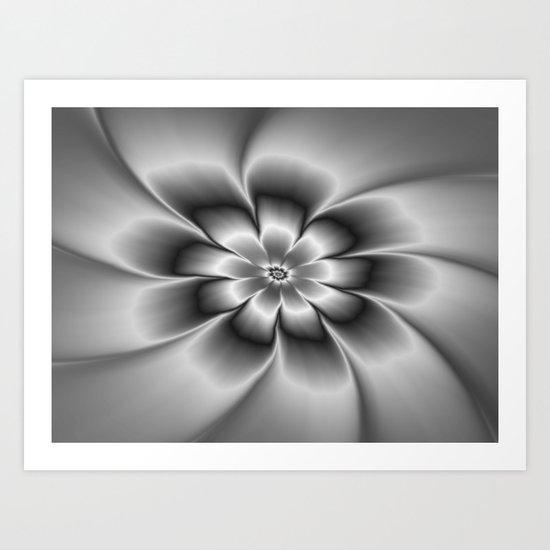 Silver Daisy Art Print