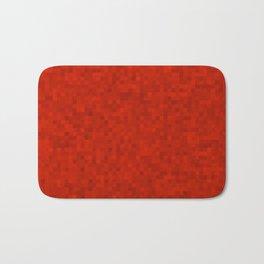 Pixelated Red Bath Mat
