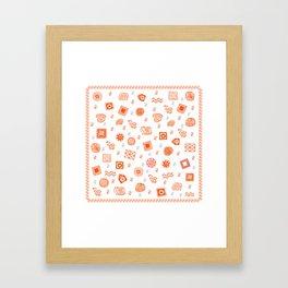 Ethnic Mosaic Framed Art Print