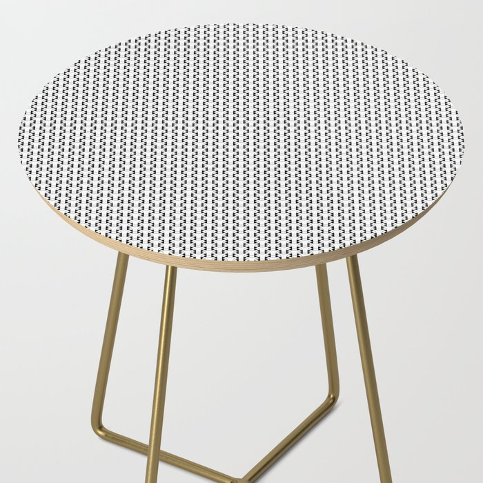 Black and White Basket Weave Shape Pattern 2 - Graphic Design Side Table