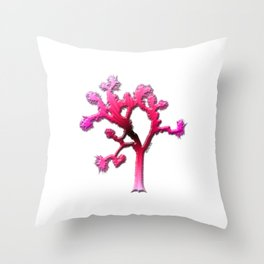 Joshua Tree Strawberry Throw Pillow