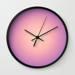 Round Sunset Wall Clock