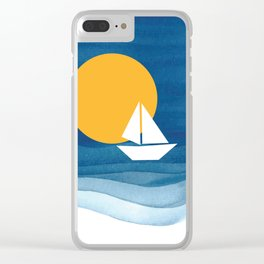 A sailboat in the sea Clear iPhone Case