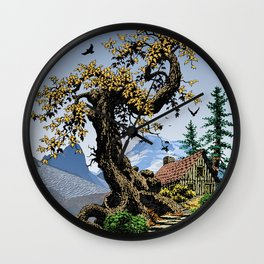 BLUE RIDGE OAK AND KOMA KULSHAN Wall Clock