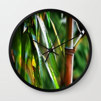 mother Wall Clocks featuring Mother by Robin Curtiss
