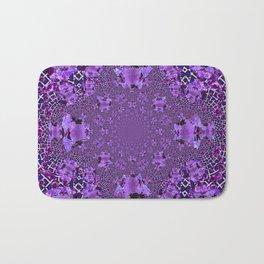 Encrusted Amethyst Purple Gems February Birthstones art Bath Mat