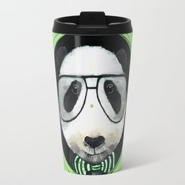 Fancy Panda on Vinyl Travel Mug