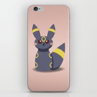 umbreon iPhone & iPod Skins featuring Evolution Bobbles - Umbreon by creativeesc