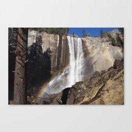 Rainbow Over Vernal falls Canvas Print