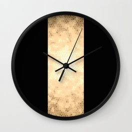 Gold and black stripes Wall Clock