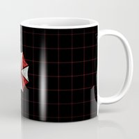 resident evil Mugs featuring Resident Evil Umbrella Corporation  by DavinciArt
