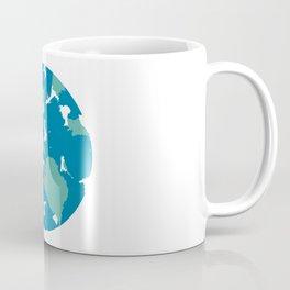Minimal Planet Earth in Abstract Watercolor Coffee Mug