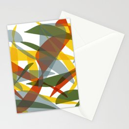 Abstract Whale / Abstract Snail Stationery Cards