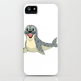 Smiling Baby Seal iPhone Case