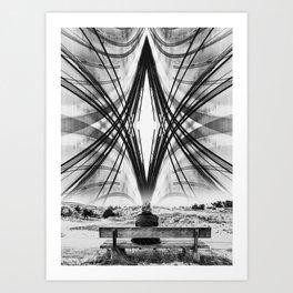 Mind Circus - White Art Print