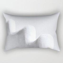 White and Minimal Rectangular Pillow