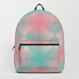 Gradient pixel design teal & pink Backpack