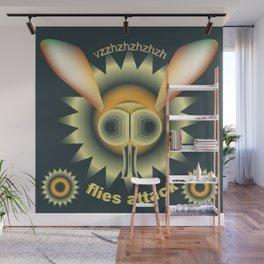 "Print illustration poster wild ""Flies attack"" Wall Mural"
