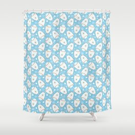 Snowing Marshmallows Shower Curtain