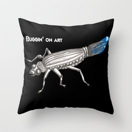 Buggin on Art Throw Pillow