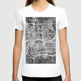 Quad Cities Street Map T-shirt