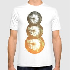 rusty circles Mens Fitted Tee MEDIUM White