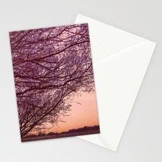 Purple Tree, Coral Sky Stationery Cards