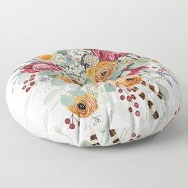 Fall Protea Bouquet Floor Pillow