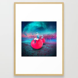 Space Hoppers Framed Art Print